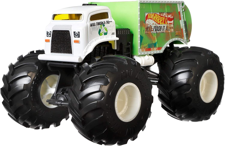 Hot Wheels- Monster Trucks 1:24, juguete de coches y choques (Mattel FYJ82)