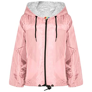A2Z 4 Kids/® Kids Girls Boys Raincoats Jackets Designers Orange Light Weight Waterproof Kagool Hooded Cagoule Rain Mac Coats New Age 5 6 7 8 9 10 11 12 13 Years