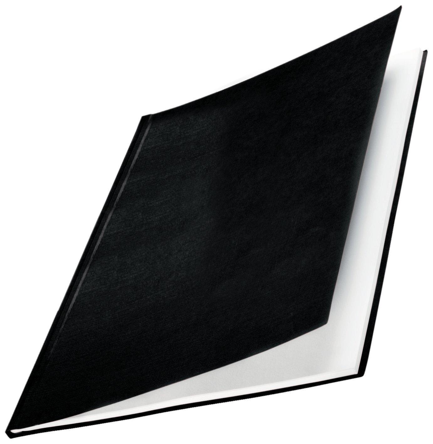 Leitz, 73930001, Copertine rigide, ImpressBind, Dorso da 14 mm, Confezione da 10 pezzi, Superficie in lino, Bianco