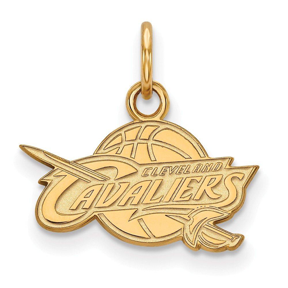 Roy Rose Jewelry 10K Yellow Gold NBA LogoArt Cleveland Cavaliers X-small Pendant / Charm