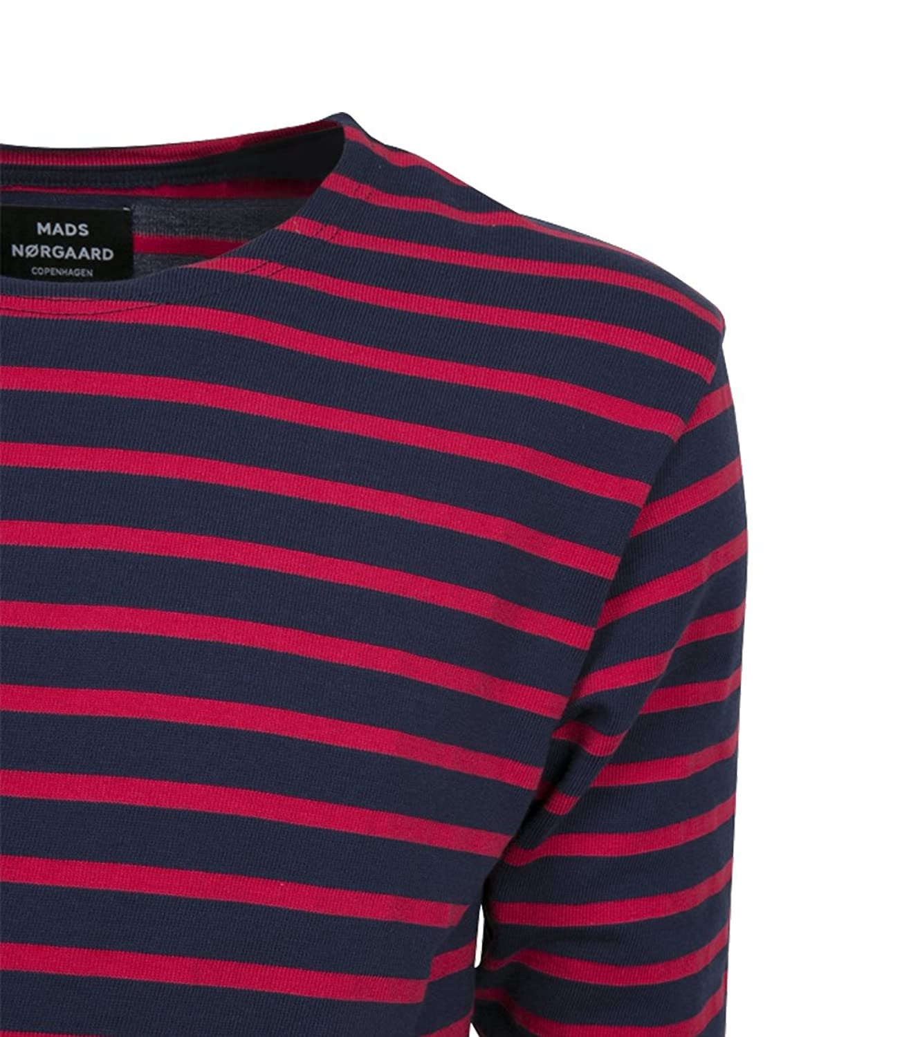 MADS NORGAARD Herren Langarmshirt Tash Long in Rot-Blau 037 Navy Red XL:  Amazon.de: Bekleidung