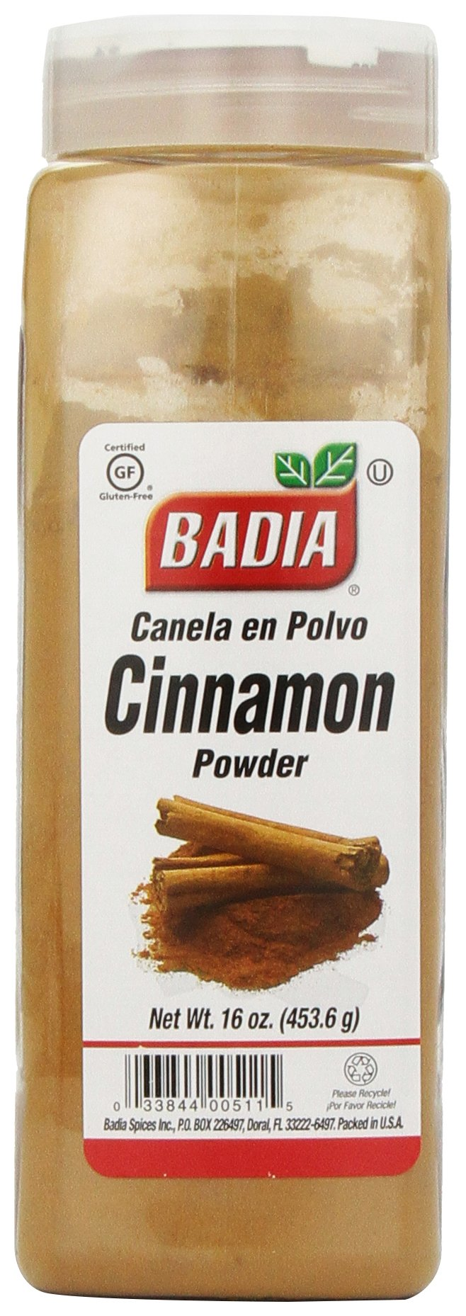 Badia Cinnamon Powder, 16-Ounce (Pack of 6)