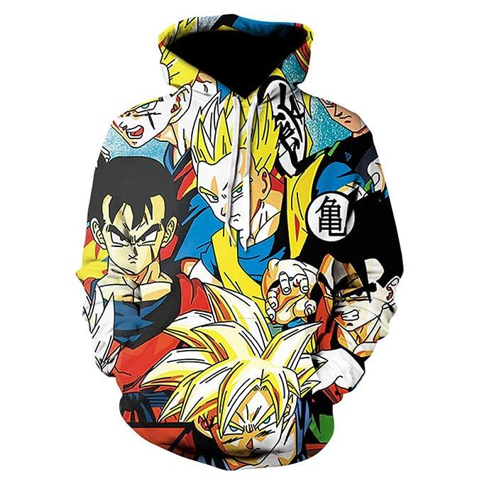 Dragon Ball Sudadera con Capucha Unisex 3D Manga, diseño de Anime, Cosplay, Pullover Sudaderas: Amazon.es: Ropa y accesorios