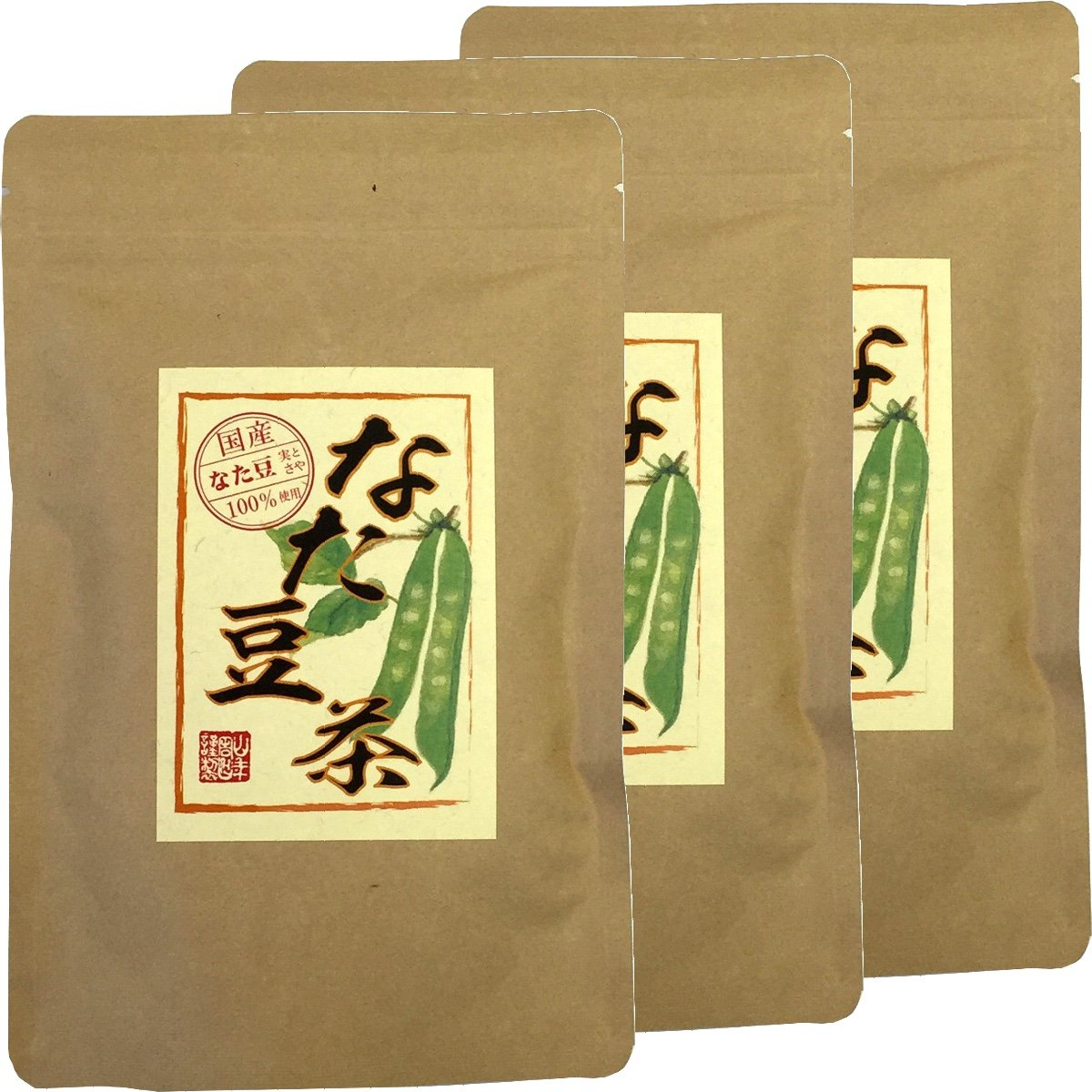 Japanese Tea Shop Yamaneen Sword Beans-Tea Without Agricultural Chemicals Non Caffeine Teabag 36G x 3packs