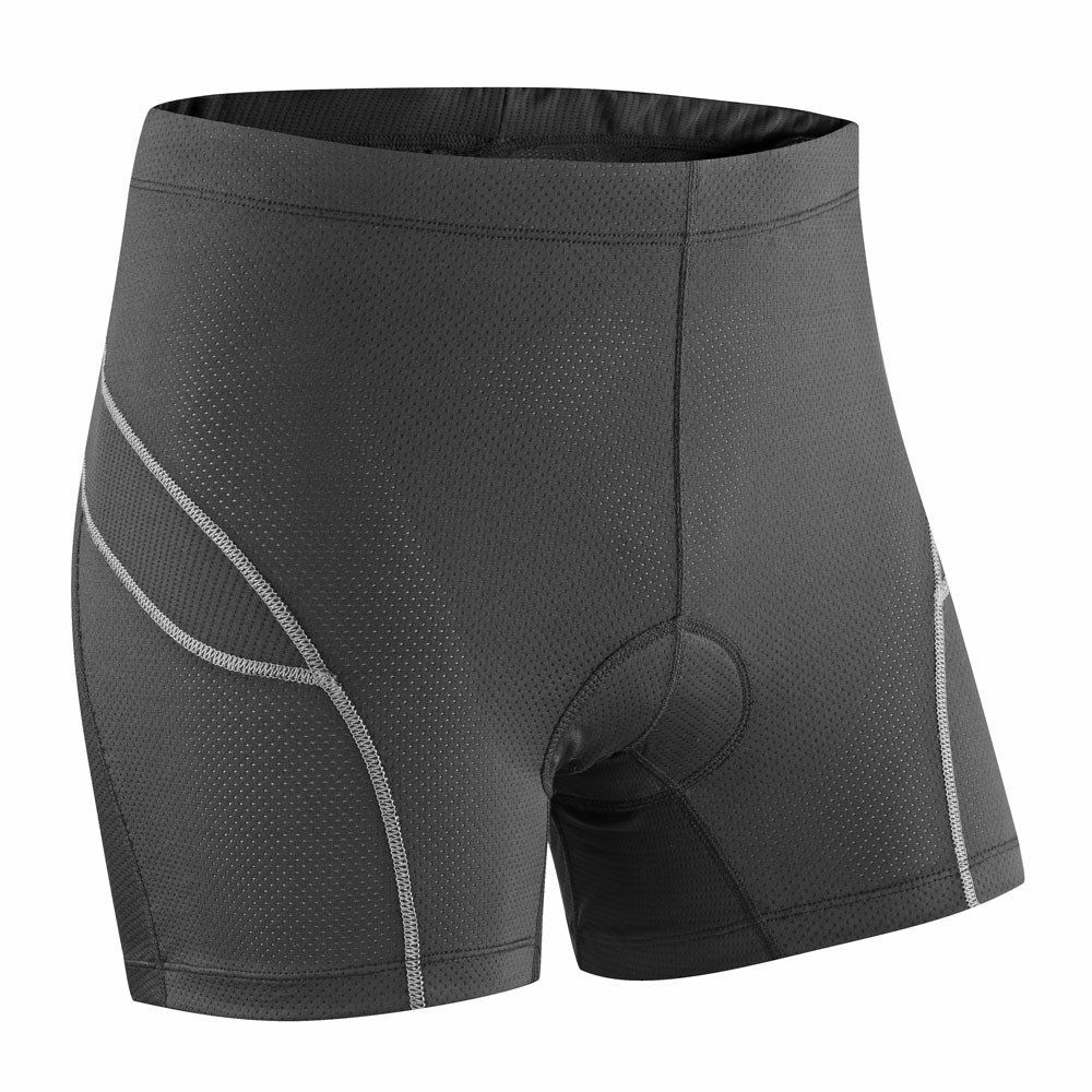 Tenn Ladies Deluxe Padded Cycling Boxers/Undershorts - Black/Grey - 18