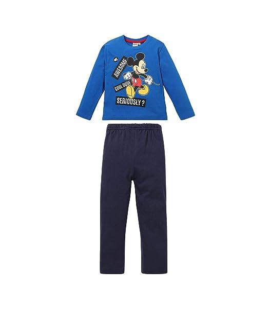 Disney Mickey 2218, Pijama para Niños, Azul Bleu, 3 años
