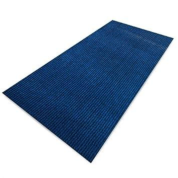 Floori Küchenläufer | strapazierfähiger Teppich Läufer für Küche, Flur uvm.  | Teppichläufer/Flurläufer in vielen Größen und Farben | 100x350cm, blau