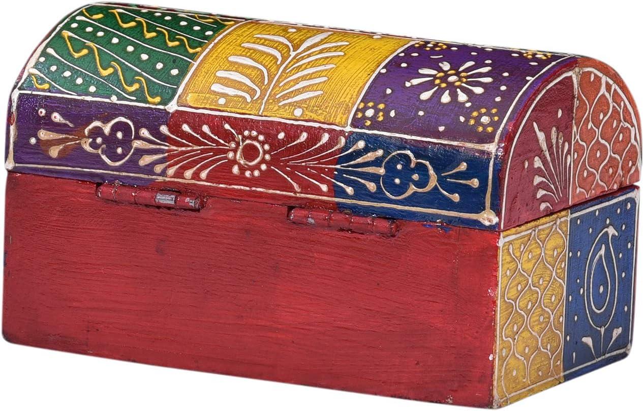 Bo/îte /à bijoux en bois indienne peinte /à la main Cadeau pour la femme et lamie SHANTI RK65