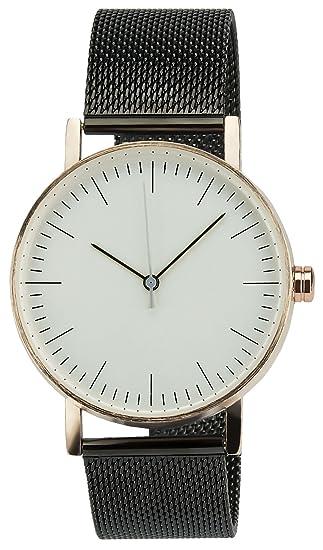 Reloj Mujer Giorgio&Dario Blanco RosaCuarzo caja Acero Analógico Pulsera Acero Negro