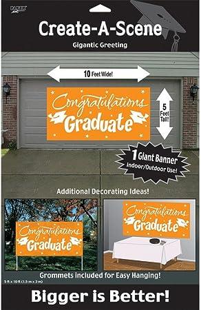 Creative Converting Congrats Grad Paper Art Gigantic Greetings Yellow