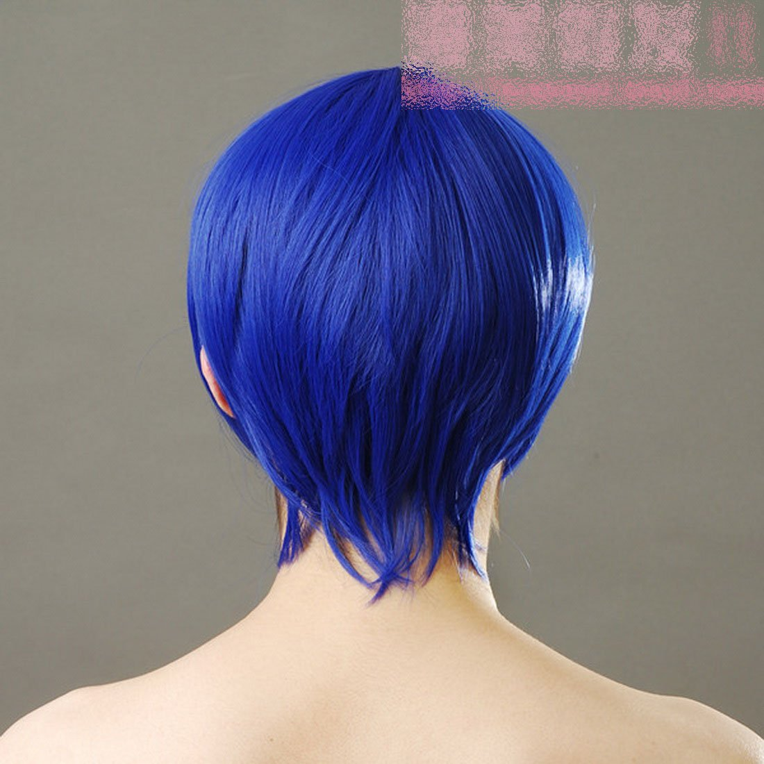 Recta corta peluca azul cosplay 30cm peluca azul peluca cosplay pelo corto disponible V Gran Hermano casa peluca: Amazon.es: Salud y cuidado personal