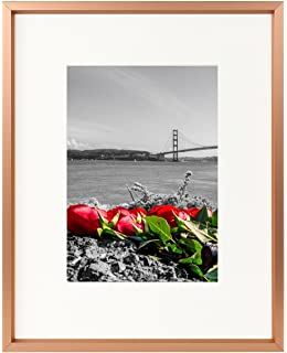 Amazoncom Frametory 8x10 Rose Gold Aluminum Photo Frame With