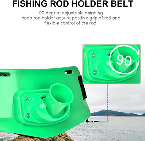 Boats Sea Fishing Rod Stand Fighting Belt Waist Support Holder Red//Green//Yellow