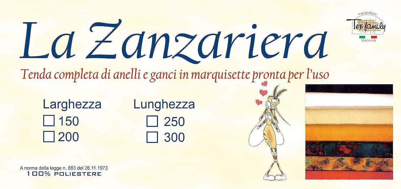 200 x 250 Cm Tex family Tenda Rete ZANZARIERA Marquisette da Esterno piombata Girasoli in 4 Misure Diverse