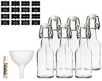 Fácil de Swing Top botellas de vidrio 16oz – claro – para preparar kombucha kéfir cerveza