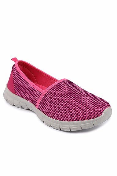 Spunk Womens Kerri Pink Walking Shoes