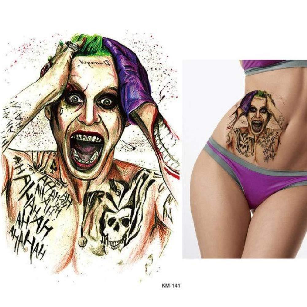 JUSTFOX - Tatuaje temporal, diseño de joker: Amazon.es: Belleza