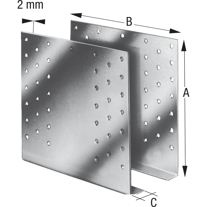 Balkenverbinder GERW 180-B feuerverzinkt mit Zulassung 1 Paar SIMPSON Gerberverbinder