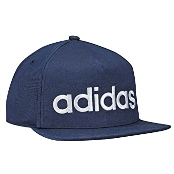 adidas Flatbrim Logo Gorra, Hombre, Azul (Maruni), Talla Única: Amazon.es: Deportes y aire libre