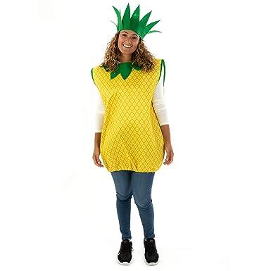 Disfraz de piña Fina, Talla única, para Adulto, Divertido, Fruta ...