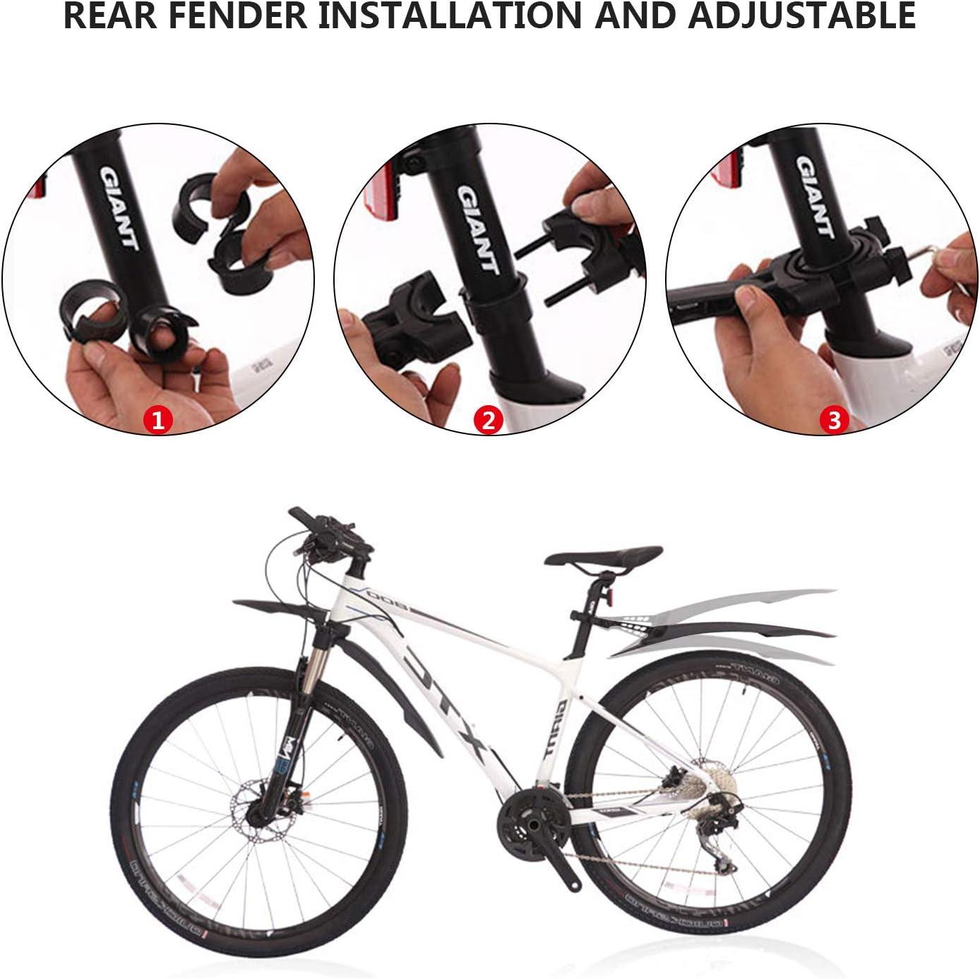 Diealles Shine Fahrrad Schutzbleche Set schutzblech Spritzschutz Fahrrad Mountainbike Mudguard Steckblech-Set f/ür 26-29 Zoll MTB Mountainbike