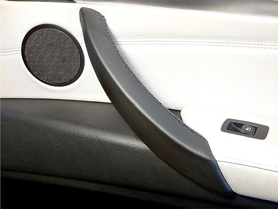 Abdeckung Für Den Türinnengriff X6 E71 Und X5 E70 Rechts Schwarzes Leder Auto