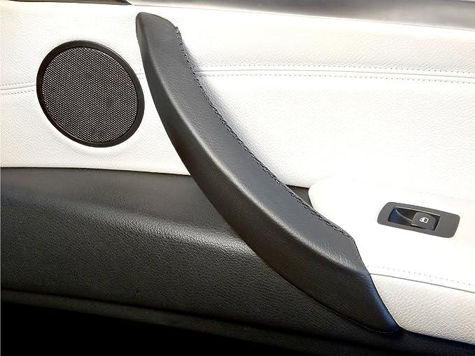A la Izquierda Facibom Para E70 E71 X5 X6 Manija de la Puerta Interior del Autom/óVil Soporte del Reposabrazos Panel Panel Cubierta de Ajuste Negro