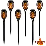SunnyPark Solar Lights Outdoor Pathway, Solar Powered Outdoor Garden Path Torch Stake Lights for Landscape Patio Walkway…