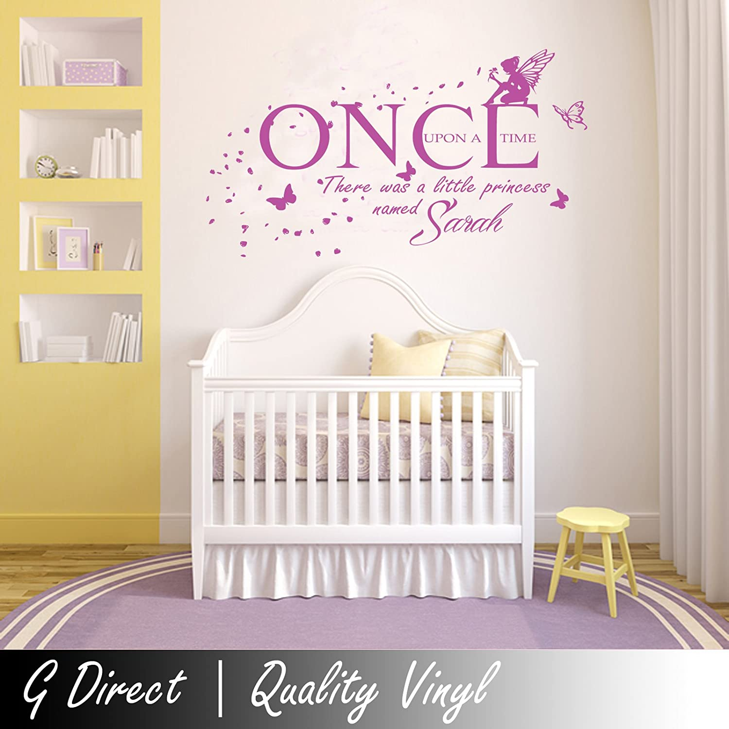 Wall stickers girls images home wall decoration ideas personalised once upon a time princess wall sticker vinyl decal personalised once upon a time princess amipublicfo Gallery