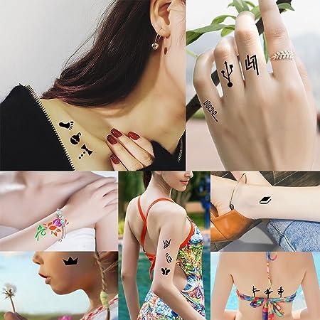 5 hojas hueca diseño de Henna tatuaje temporal DIY dibujo: Amazon ...