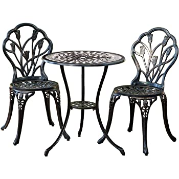 Amazon Com Outdoor Wrought Iron Bistro Set W Free