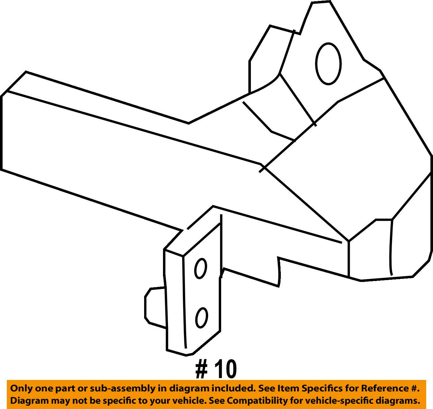 Genuine Mercedes-Benz Impact Bar Side Bracket 205-620-35-01 by Mercedes Benz (Image #2)