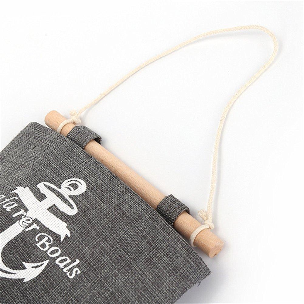 mirayen cotone cartella borsa di stoccaggio haengeorganizer parete attaccatura Organizer sacchetto da tasche parete appeso 4/in stile Marine per bambini camera da letto