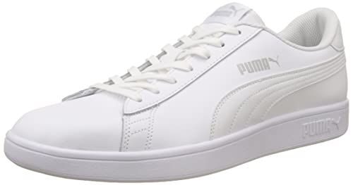 9e7e0ada981a Puma Men s Smash V2 L White Leather Sneakers-9.5 UK India (44 EU ...