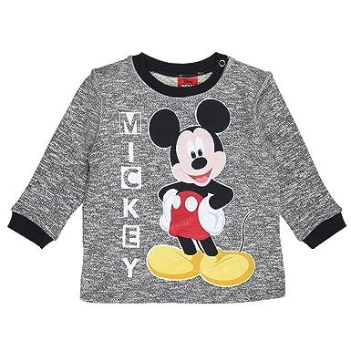 Disney Niños Mickey Mouse Sudadera, Gris Melange, Talla 92, 2 Años: Amazon.es: Ropa y accesorios