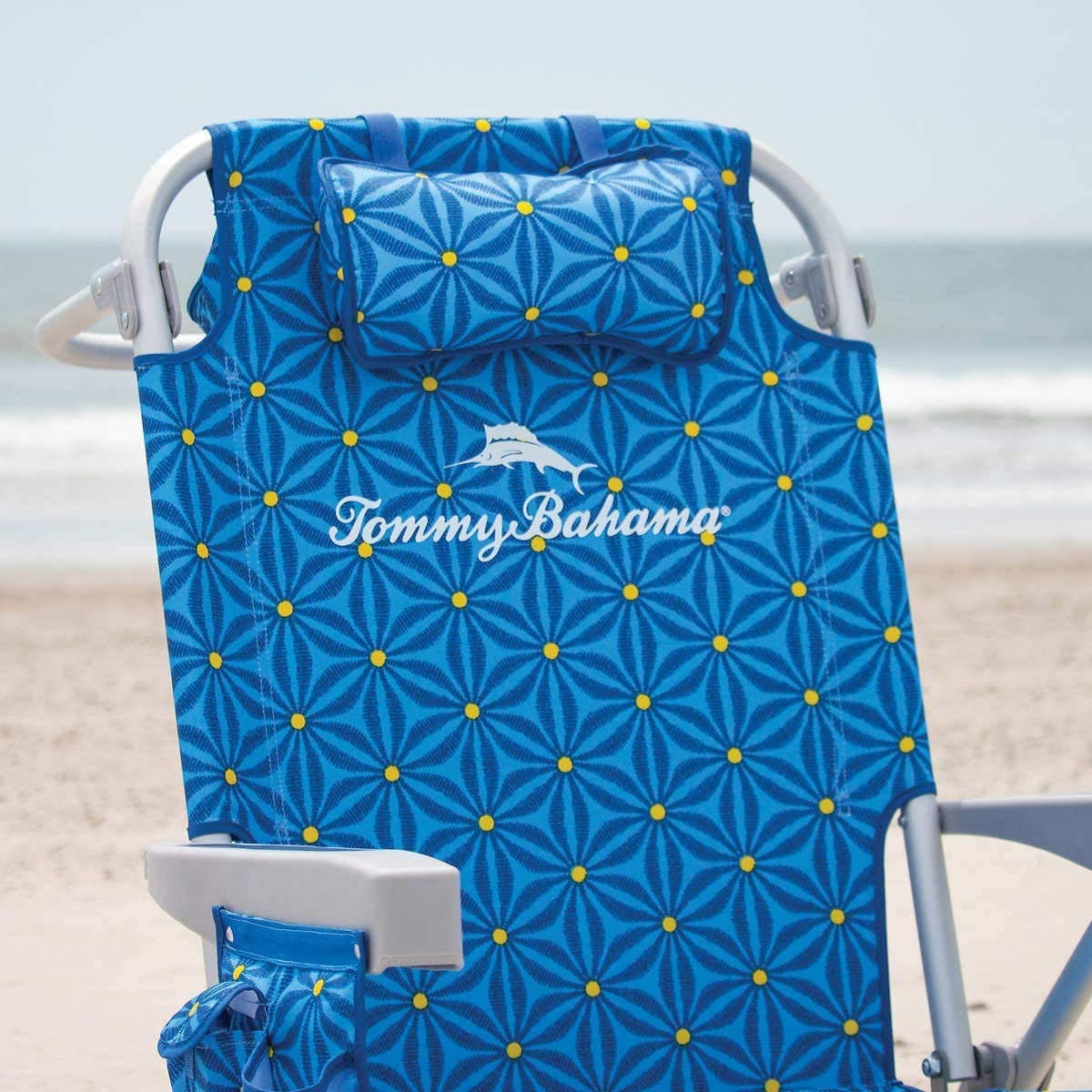 TECNOVOZ Pack 2 Sillas Port/átil Y 1 Sombrilla De Playa Tommy Bahama Azul