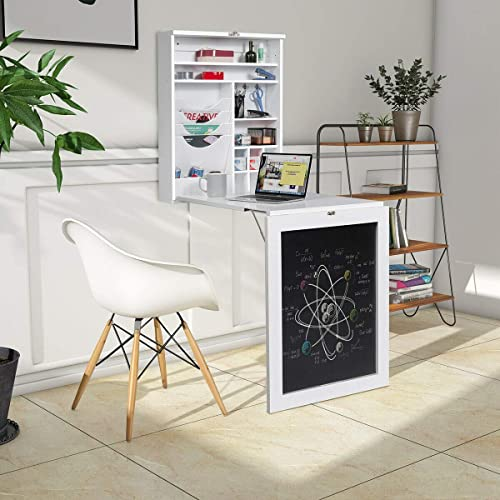 Tangkula Wall Mounted Table