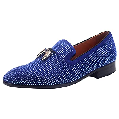 ELANROMAN Men's Hip hop Dress Loafers Prom Party Wedding Shoes | Loafers & Slip-Ons