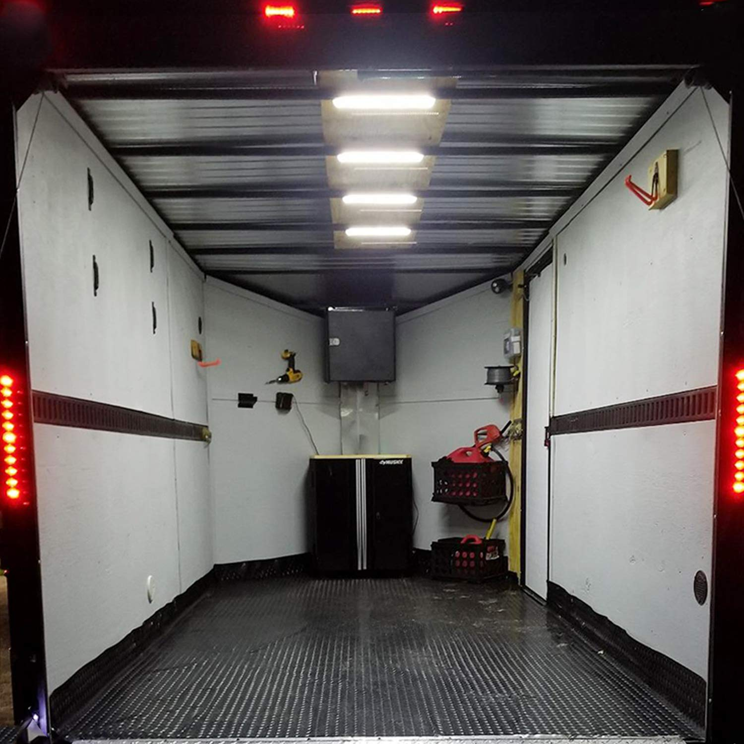 12V 60 LEDs Van Interior Light Kits 20 Modules, White Ampper LED Ceiling Lights Kit for Van RV Boats Caravans Trailers Lorries Sprinter Ducato Transit VW LWB