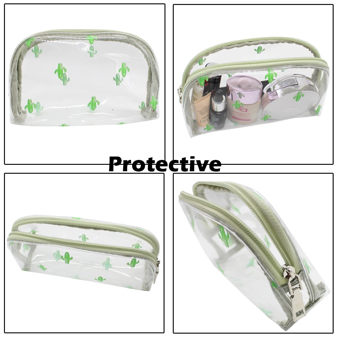 TePiLl Hanging Toiletries Bag Kit Clear PVC Travel Bathroom Makeup Brush Comestic Pouch Case for Men and Women