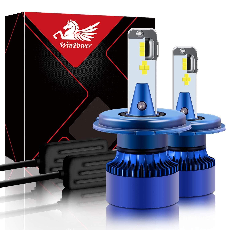 Win Power Hir2 2 Pi/èces 9012 Led Phare Ampoule Kit de remplacement 6000K X/énon blanc Super brillant Lampe 12V Voiture//moto Kit de mise /à niveau Feux de brouillard