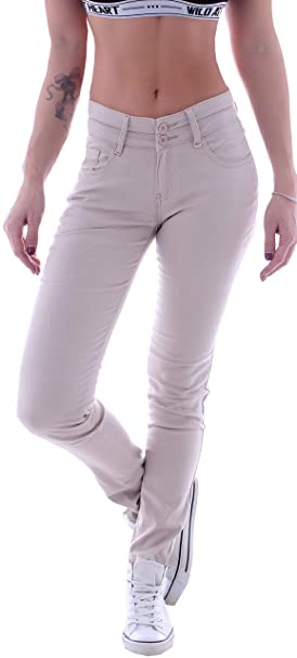 5a9257ebb84518 Style-Station Skinny Damen Stoffhose Röhrenhose Hüfthose Jeans Chino Beige  Xs 34 S 36 M 38 L 40 XL 42: Amazon.de: Bekleidung