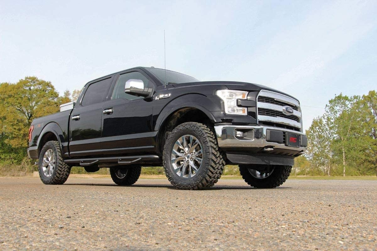 2014-2020 F150 fits Rough Country 2 Billet Leveling Kit | Aluminum Suspension System 569RED