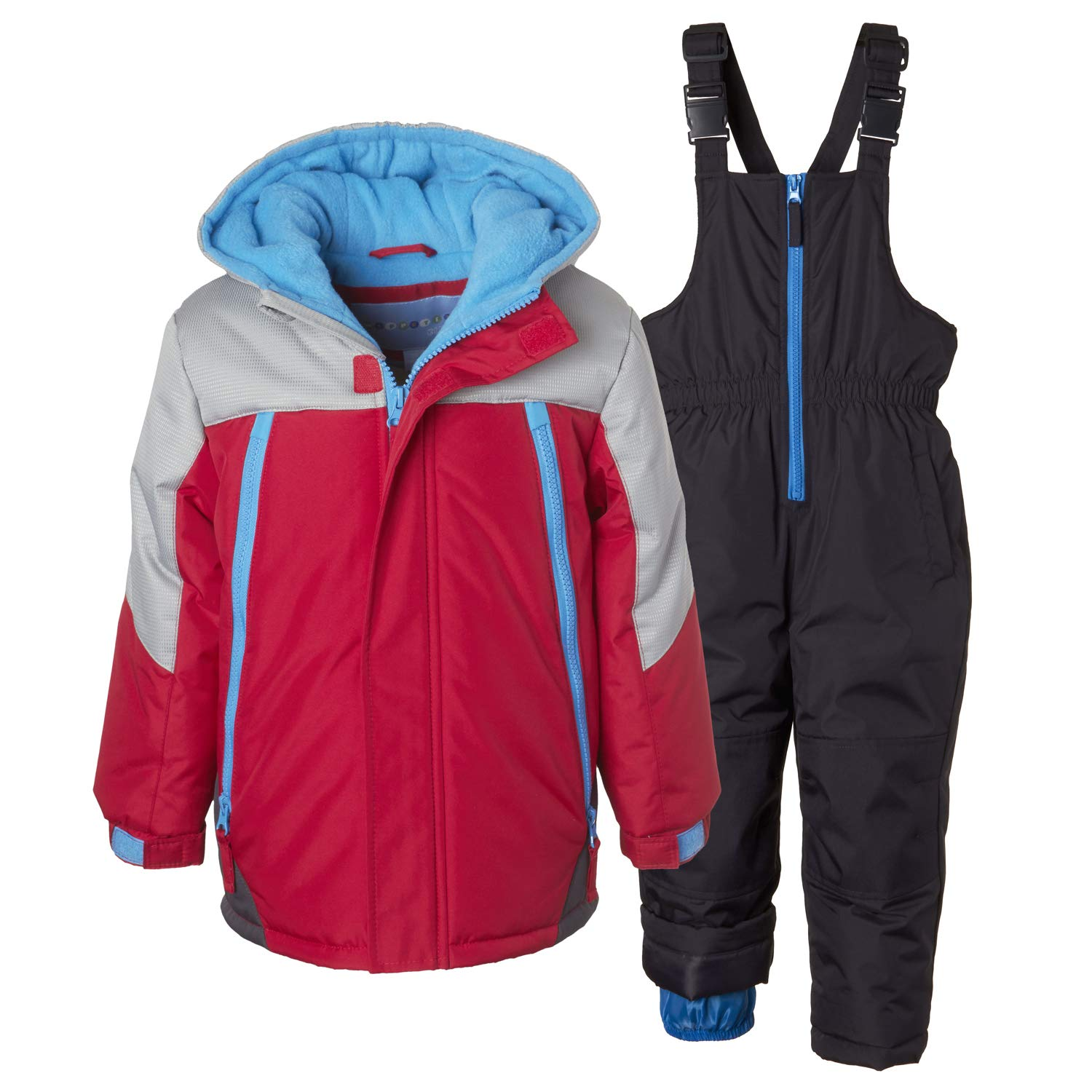 Wippette 2 Pc Kids and Toddler Snowsuit; Boys' Winter Jacket and Pants Set WB618137-NVY-12M