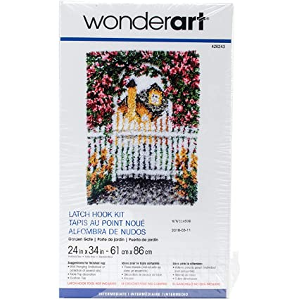 Wonderart Garden Gate Latch Hook Kit, 24