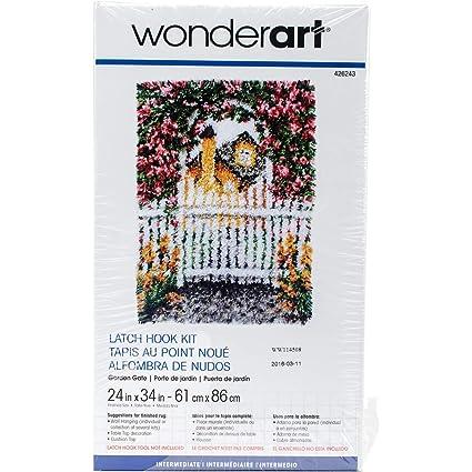 Wonderart Garden Gate Latch Hook Kit, 24