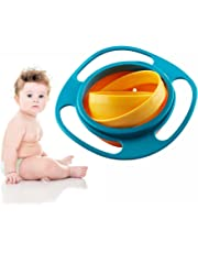 Binnan 360 Dgree Rotation Baby Training Tableware Bowls with Lids, Kids Anti Spill Bowls for Over 6 Months Kids