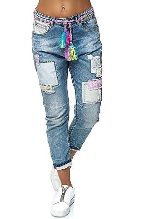 Wiya RE210DY606 - Pantalones Vaqueros para Mujer, Color Azul ...