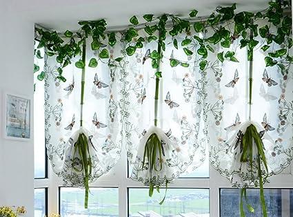 Omeny ricamo stile country farfalla tenda per la decorazione ...