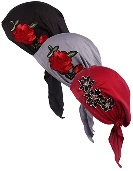 758aa35dd16 Chemo Fashion Scarf Easy Tie Padded Cotton Lined Turban Hat Headwear for  Cancer